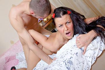Brunette has real fun sexy hardcore fuck